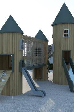 Лабиринт игровой Башни Скандинавии с горкой