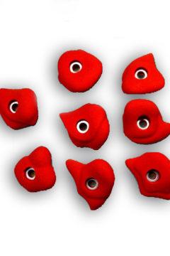 Зацепы для скалодрома красные 8 шт