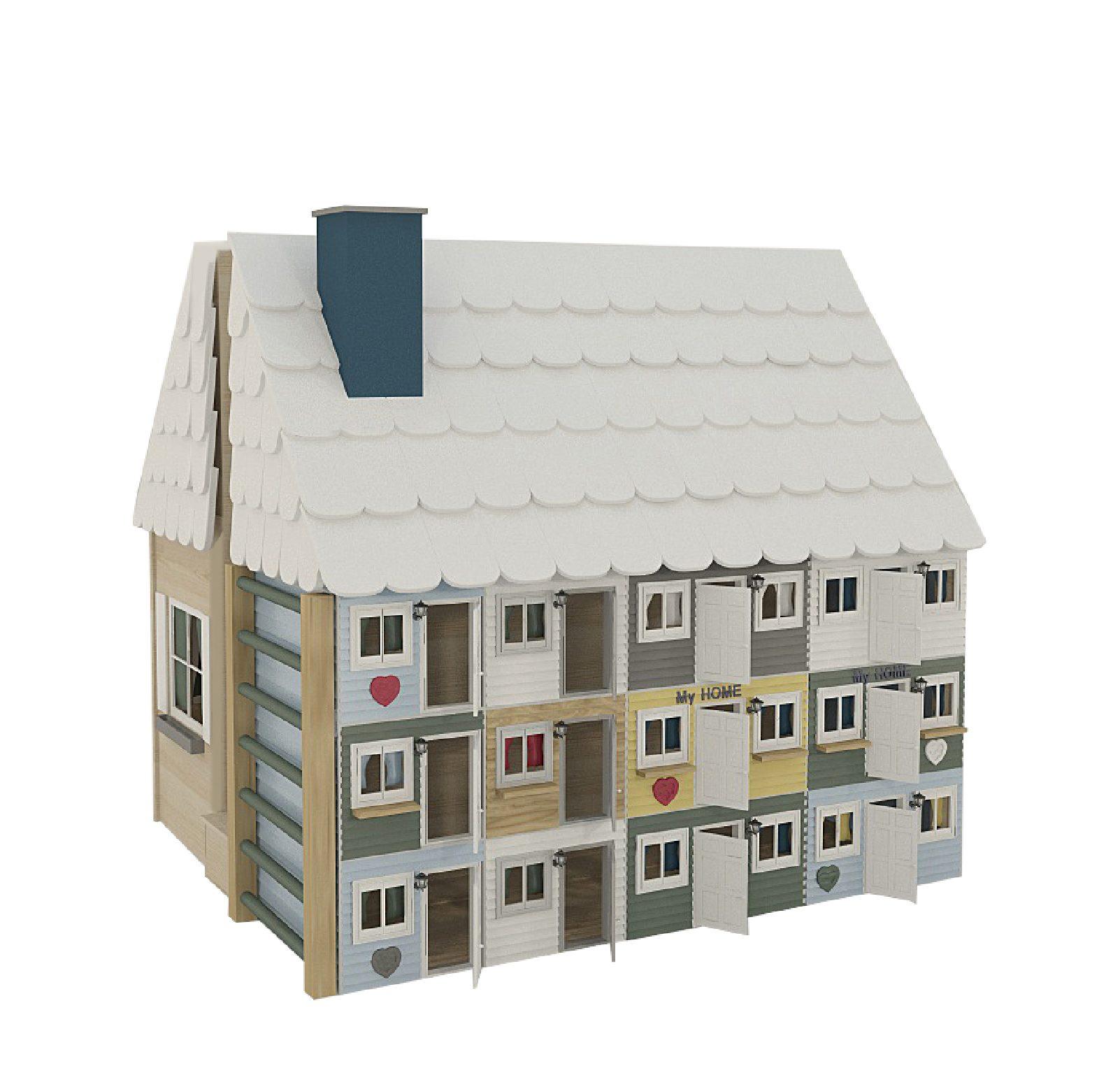 """Игровой домик с горкой """"Кукольный Таун Хаус"""""""