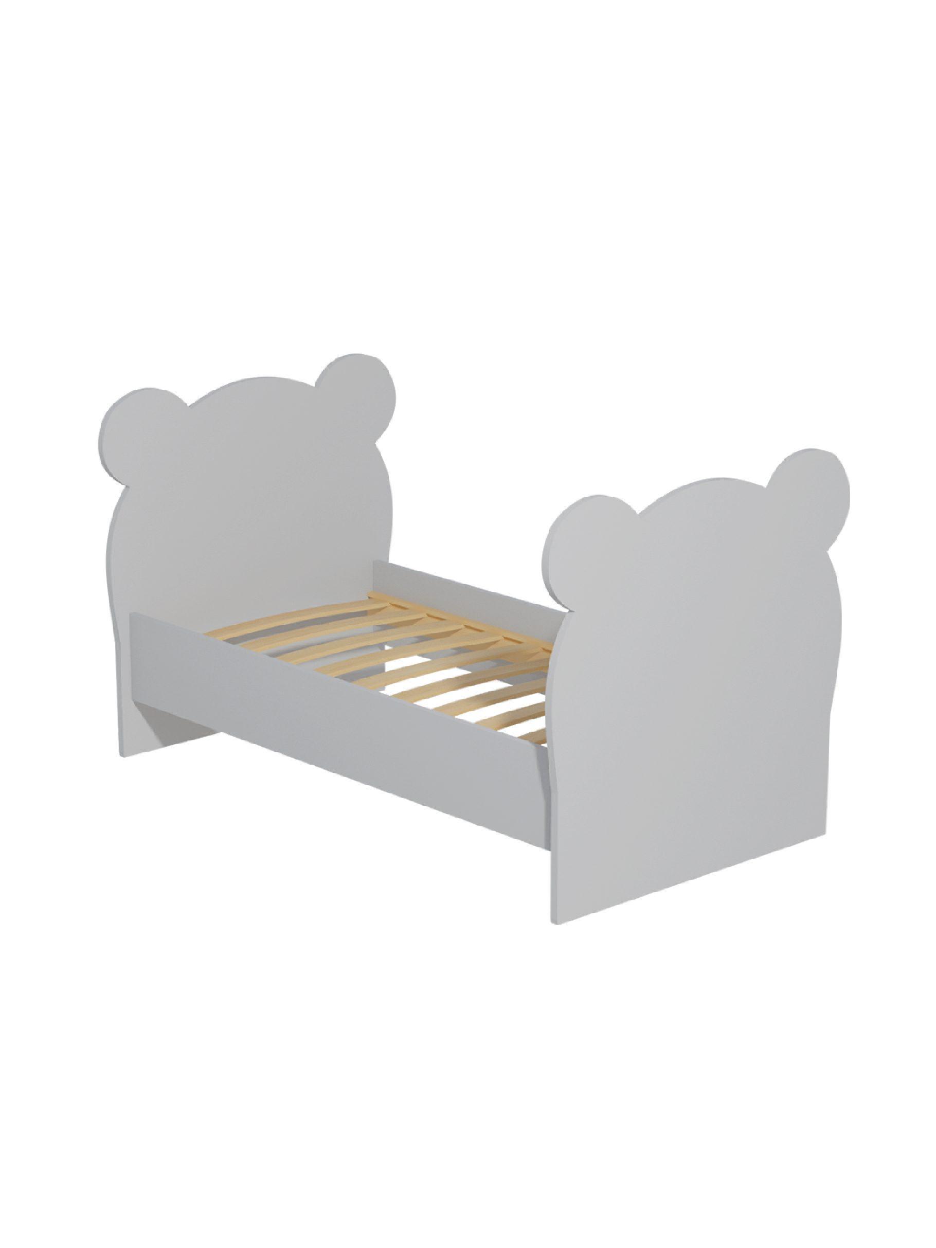 """Кровать детская """"Мишка """" серый"""
