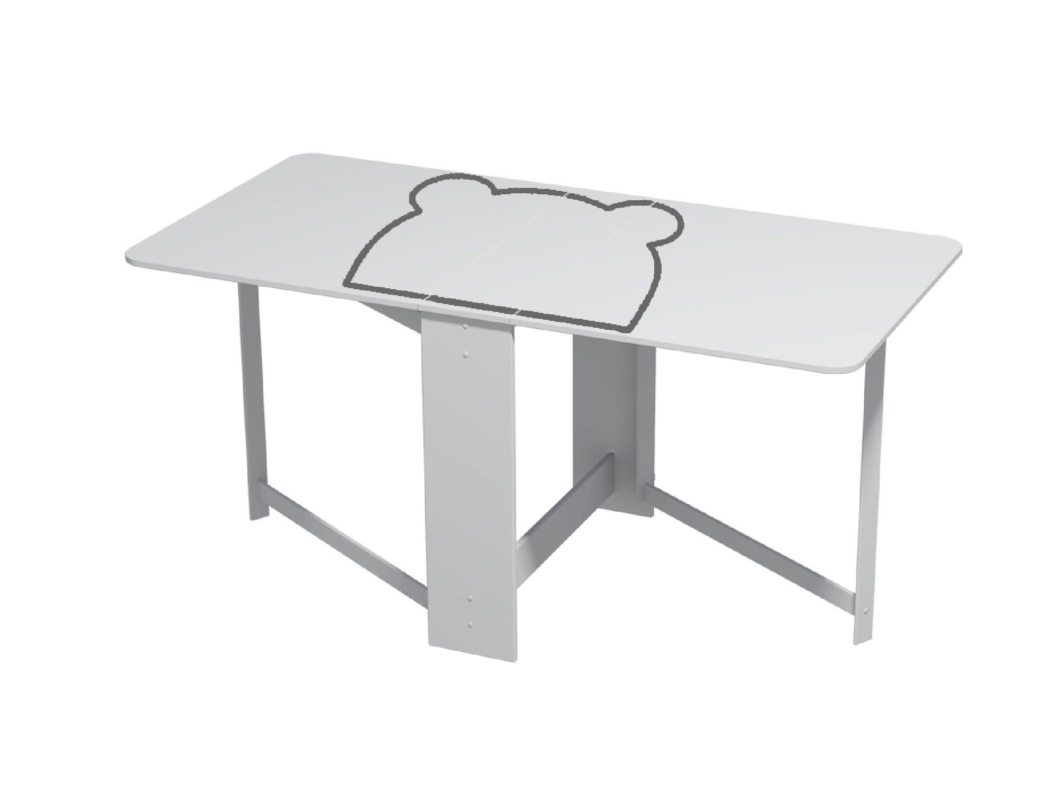 """Стол складной """"Мишка"""" серый"""