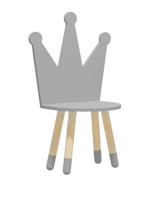 """Стул для детей """"Корона"""" серый"""