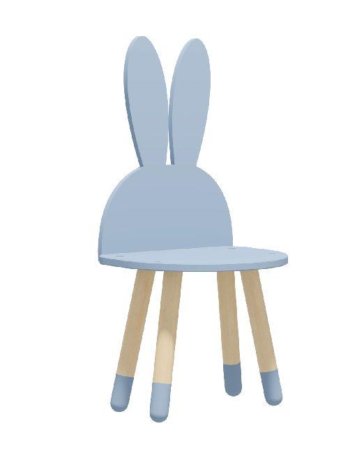 """Детский стульчик """"Зайка"""" синий"""
