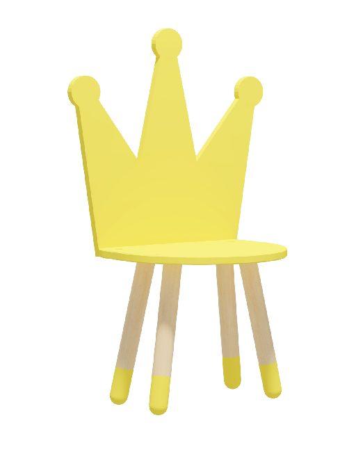 """Стул детский """"Корона"""" желтый"""