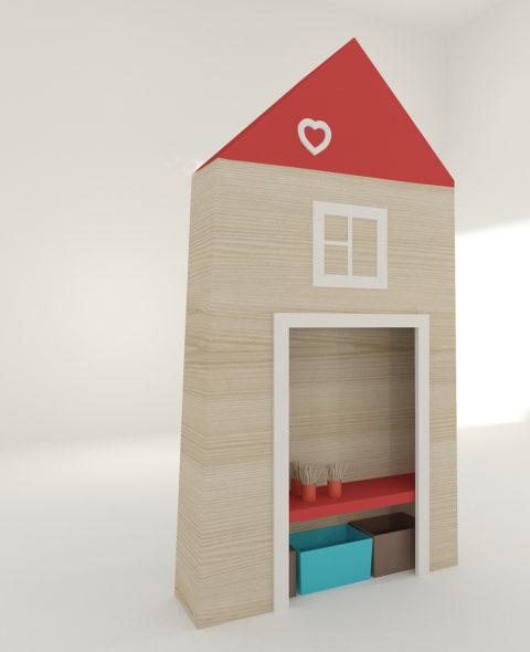Шкаф детский Муми высокий
