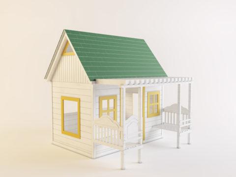 Уличный игровой домик с верандой